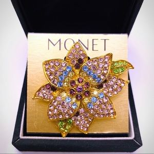 MONET FLOWER BROOCH 🆕